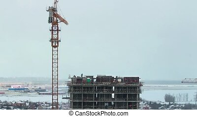 Construction of a skyscraper time lapse