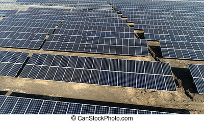 Construction of a solar power station. Aerial survey