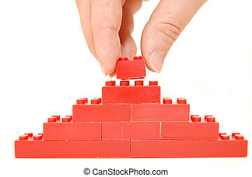 construction of a wall from the children\'s designer