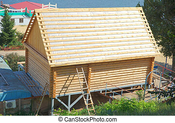 Construction of a wooden house