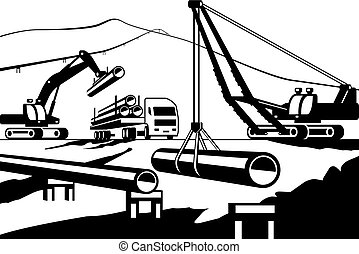 Construction of above ground pipeline