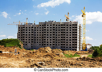 Construction of an apartment hous