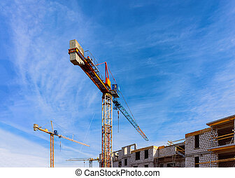 Construction of apartment house residential building real estate