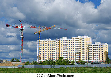 Construction of apartment houses