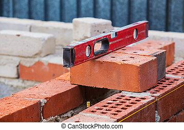 construction of brick building