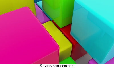 Construction of colorful cubes