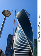 construction of curved tower building
