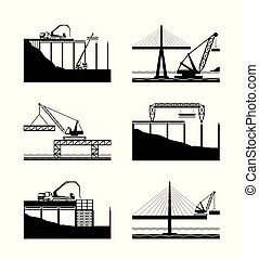 Construction of different bridges