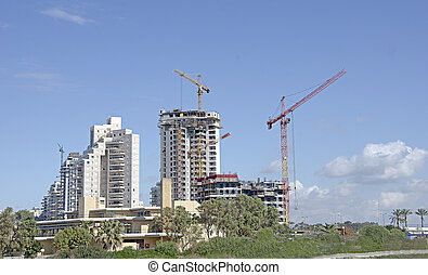 Construction of high building
