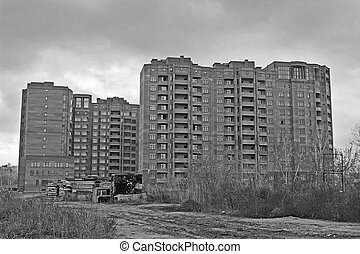 Construction of high-rise brick houses