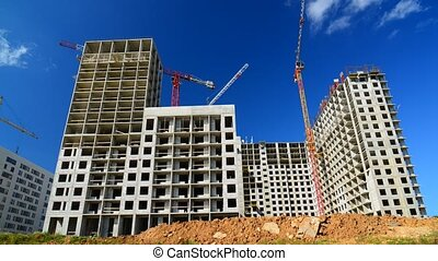 Construction of houses in Russia, timelapse - construction...