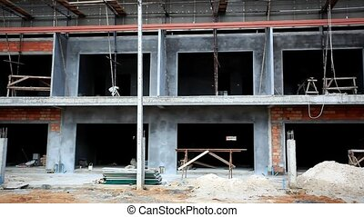 Construction of housing on Koh Samui. Thailand. HD....