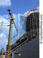 construction of modern skyscrapers