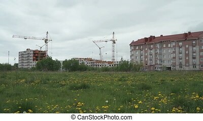Construction of multi-storey apartment buildings