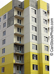 construction of multi-storey building of slabs