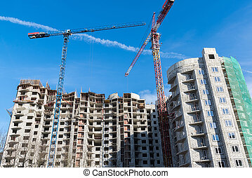 Construction of multi storey residential house
