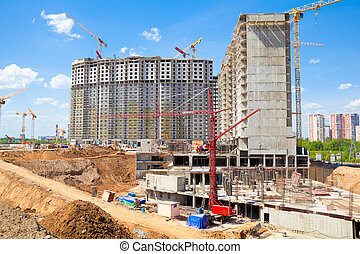 Construction of new buildings.