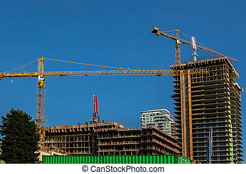 Construction of new multi-storey buildings in the micro district