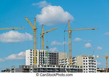 Construction of new residential neighborhood