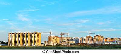 Construction of residential microdistrict.