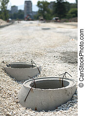 Construction of sewerage and road
