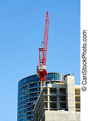 Construction of skyscraper