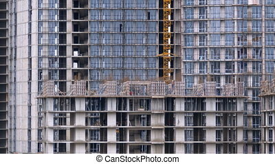 Construction of skyscrapers and buildings, construction...