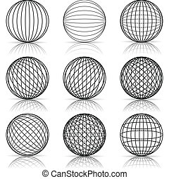 Illustration of construction of the ball on a white background.
