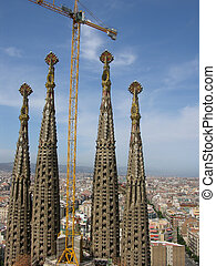 Sagrada Familia - Construction of the church Sagrada Familia...