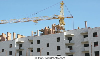 Construction of the elite apartment houses