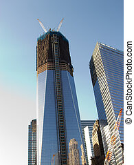Construction of the Freedom Tower, NYC