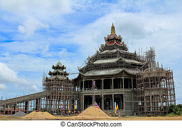 construction of the temple in Thailand