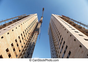 construction of two high-rise buildings