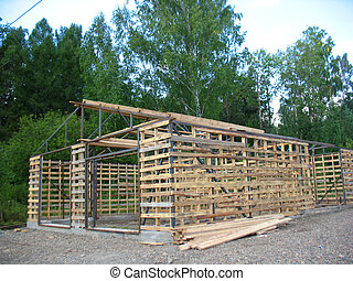 construction of wood house