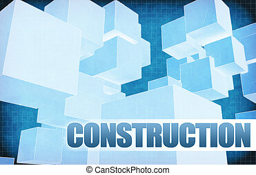 Construction on Futuristic Abstract