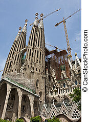 Construction on Sagrada Familia