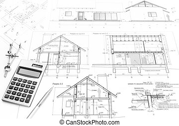 construction, outils, plans