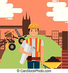 construction people workers