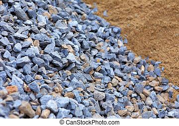 construction, pierre, travail, sable