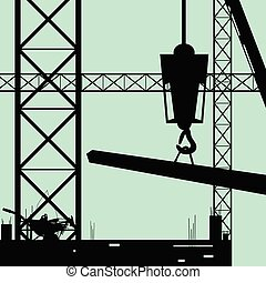 construction place art vector