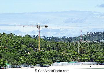 construction, plage