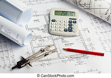 construction plan of a residential building. house building