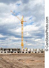 Construction plant and high crane