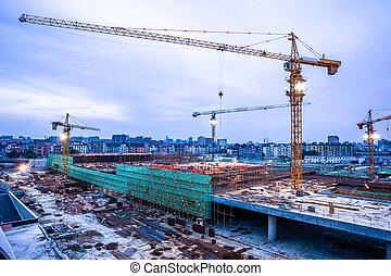 construction, porcelaine, site