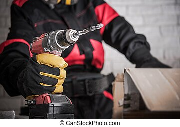 Construction Power Tools - Construction Site Power Drill...