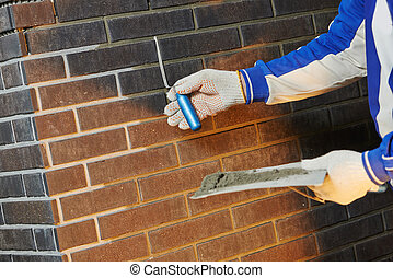 bricklaying Using the Brick Jointer Trowel - Construction...