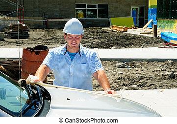 construction, professionnel, 2