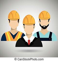 construction, professionnel, conception