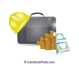 construction profits illustration design