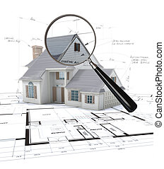 Construction project inspection - 3D rendering of an...